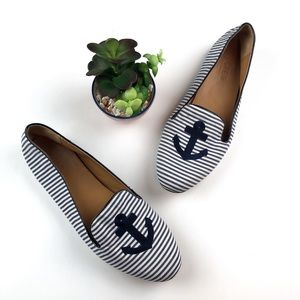 J. CREW Addie Loafers In Anchor Size 9